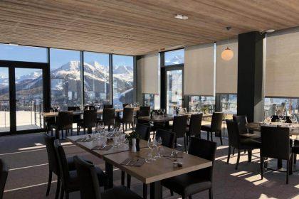 Stores Sunbox Sun&Lux au restaurant Le 360 à La Plagne